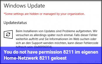 You do not have permission – im eigenen Home-Netzwerk – gelöst!