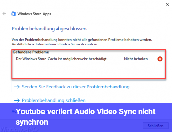 Youtube verliert Audio Video Sync / nicht synchron