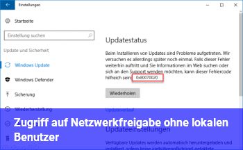 Zugriff auf Netzwerkfreigabe ohne lokalen Benutzer