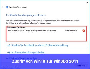 Zugriff von Win10 auf WinSBS 2011