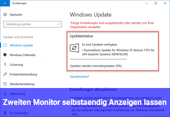 Zweiten Monitor selbständig Anzeigen lassen?