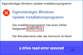 a drive read error occured