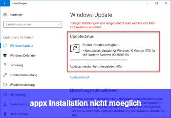 .appx Installation nicht möglich