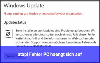 """""""atapi"""" Fehler, PC hängt sich auf."""