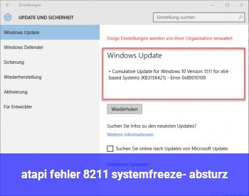 atapi fehler – systemfreeze- / absturz