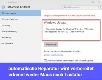 Windows 10 vorherige version wiederherstellen endlosschleife