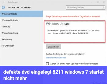 defekte dvd eingelegt – windows 7 startet nicht mehr