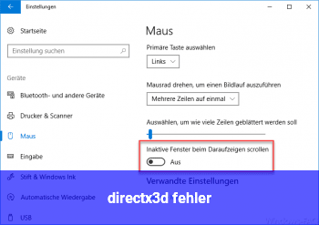 directx3d fehler