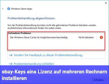 ebay-Keys / eine Lizenz auf mehreren Rechnern installieren?