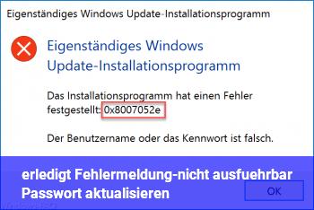 [erledigt] […] (Fehlermeldung-nicht ausführbar) Passwort aktualisieren?