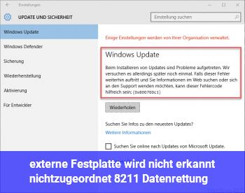 externe Festplatte wird nicht erkannt (nichtzugeordnet) – Datenrettung