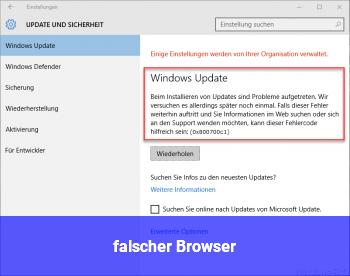 falscher Browser