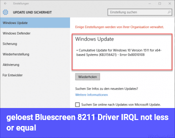 [gelöst] Bluescreen – Driver IRQL not less or equal
