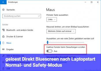 [gelöst] Direkt Bluescreen nach Laptopstart Normal- und Safety-Modus