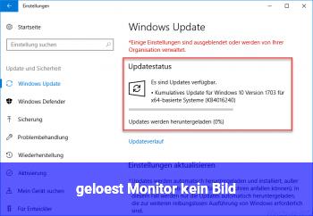 { gelöst ] Monitor kein Bild