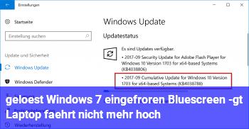 [gelöst] Windows 7 eingefroren, Bluescreen -> Laptop fährt nicht mehr hoch