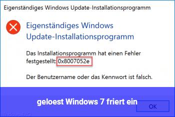 [gelöst] Windows 7 friert ein