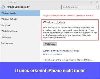 iTunes erkennt iPhone nicht mehr