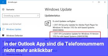 in der Outlook App sind die Telefonnummern nicht mehr anklickbar