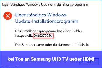 kei Ton an Samsung UHD TV über HDMI