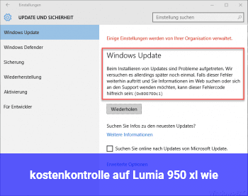 kostenkontrolle auf Lumia 950 xl wie ?
