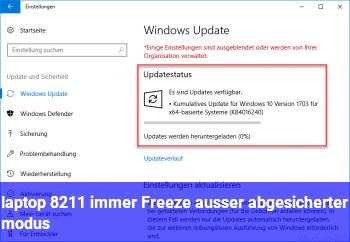 laptop – immer Freeze (außer abgesicherter modus)