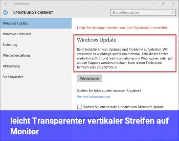 leicht Transparenter, vertikaler Streifen auf Monitor