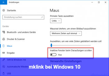 mklink bei Windows 10