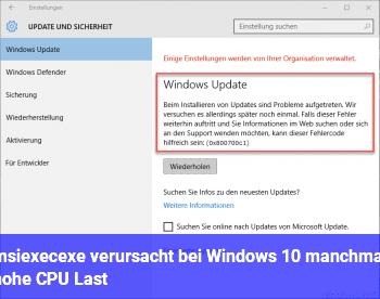 msiexec.exe verursacht bei Windows 10 manchmal hohe CPU Last