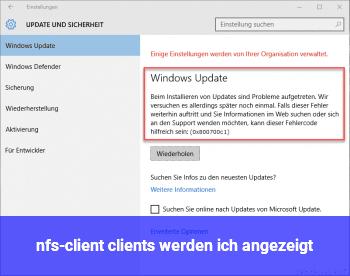 nfs-client (clients werden ich angezeigt)