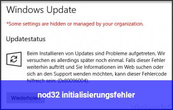 nod32 initialisierungsfehler