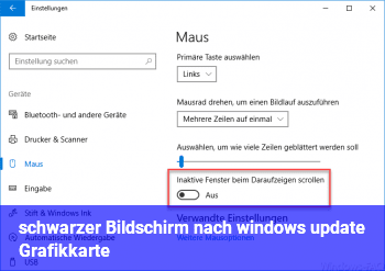 schwarzer Bildschirm nach windows update (Grafikkarte?)