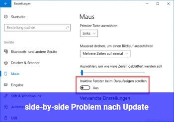 side-by-side Problem nach Update
