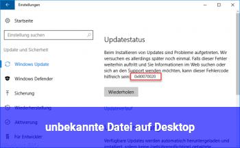 ..unbekannte Datei auf Desktop
