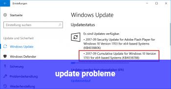 update probleme