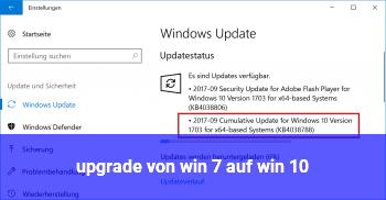 upgrade von win 7 auf win 10