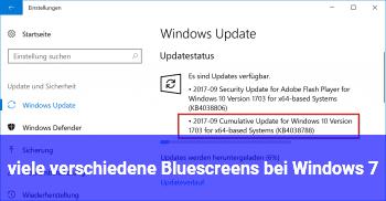 viele verschiedene Bluescreens bei Windows 7