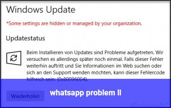 whatsapp problem ll
