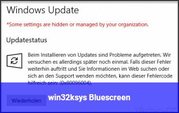 win32k.sys Bluescreen