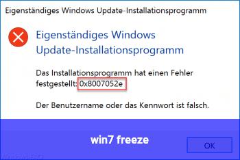 win7 freeze