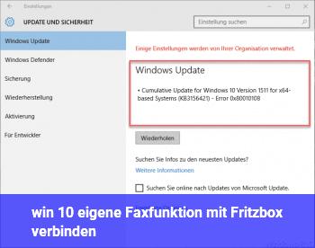 win 10 eigene Faxfunktion mit Fritzbox verbinden