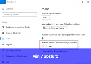 win 7 absturz