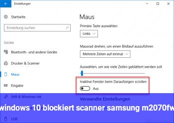windows 10 blockiert scanner samsung m2070fw