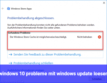 windows 10 probleme mit windows update lösen