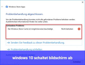 windows 10 schaltet bildschirm ab