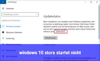 windows 10 store startet nicht