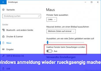 windows anmeldung wieder rückgängig machen