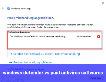 windows defender vs paid antivirus softwares ?